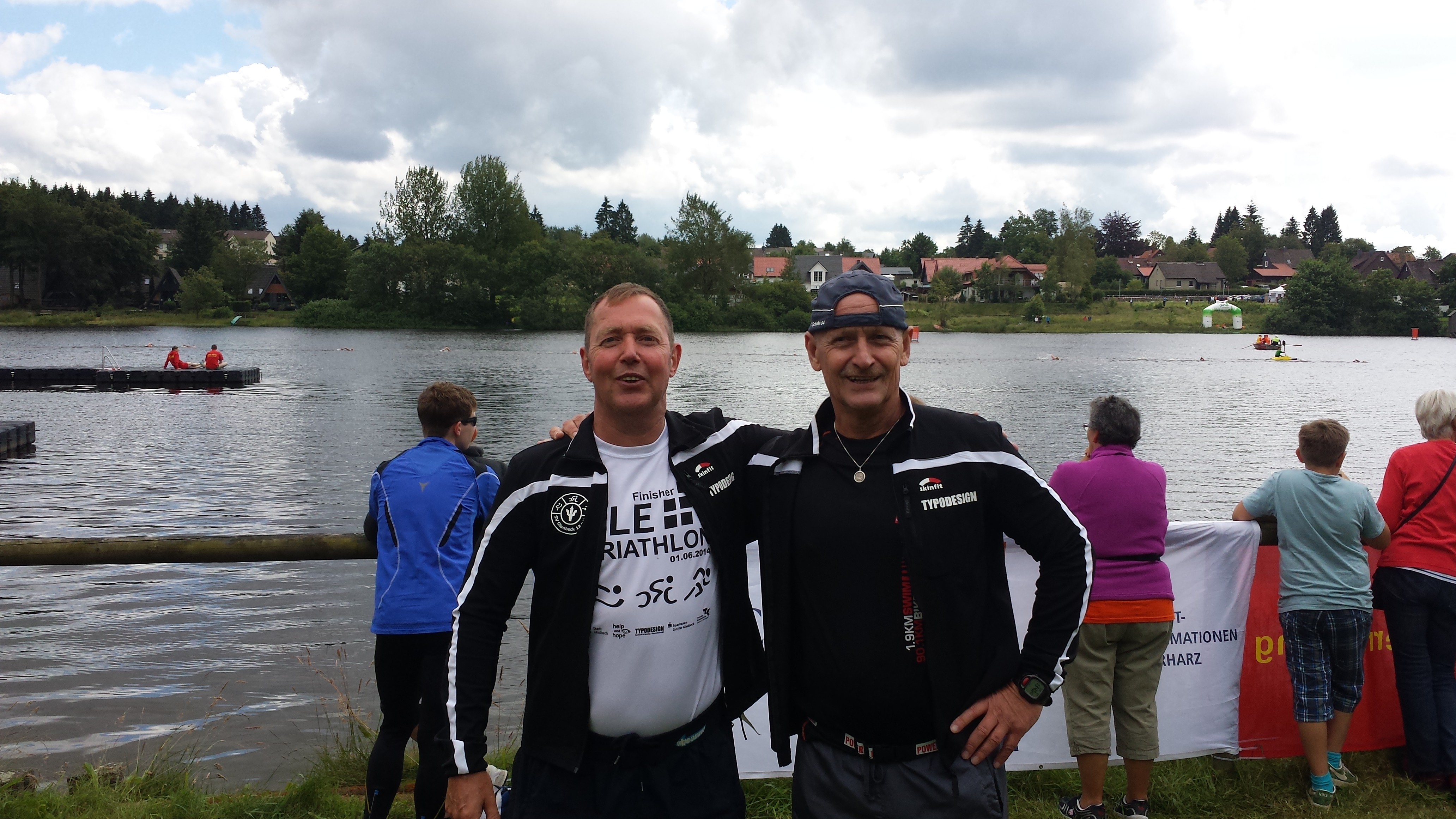 Cross-Triathlon - links Siegfried Priebel, rechts Jürgen Schramm